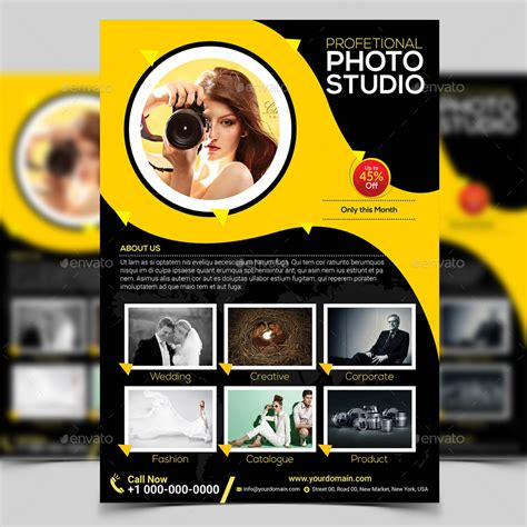 Photography Flyer Template By Aam360 Graphicriver Photography Template