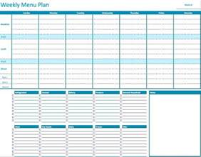 menu planner template free numbers weekly menu planner template free iwork templates