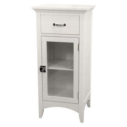 White Bathroom Storage Cabinet Target Home Fashions Avenue Floor Cabinet White