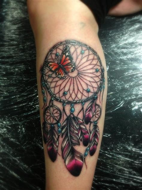 dream catcher tattoo with color 56 awesome colorful dreamcatcher tattoos