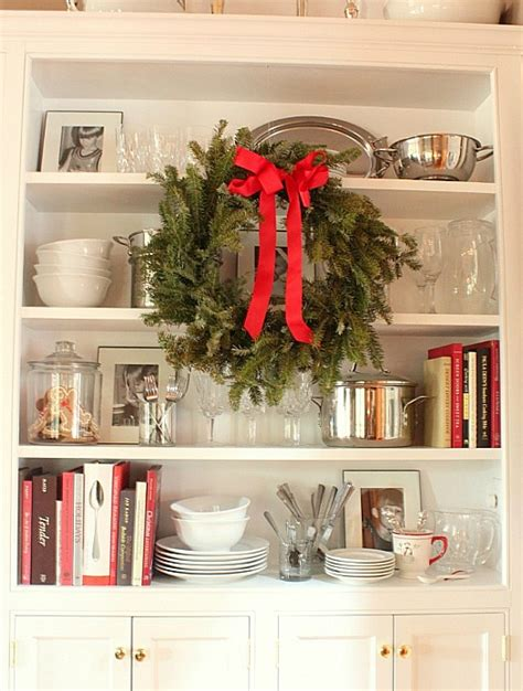 holiday kitchen cabinet reviews dining room cabinet at christmas hooked on houses