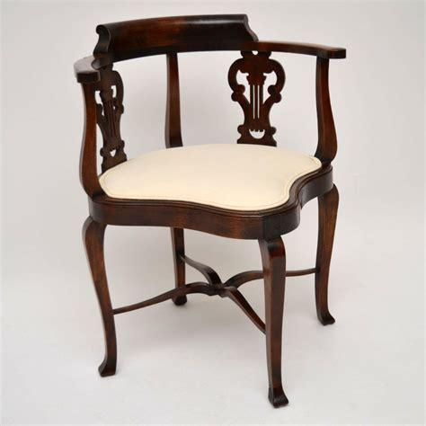 antique corner chair antique edwardian mahogany corner chair c 1910 la40857