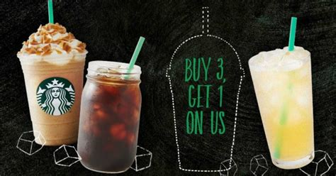 Starbucks Handcrafted Drinks - starbucks buy 3 get 1 free cold handcrafted drinks