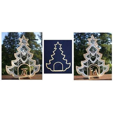 kloeppelshop wooden frame christmas tree with interior