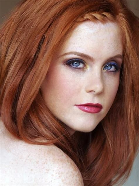 natural redhead eyebrows redhead with blue eyes pretty makeup red hair