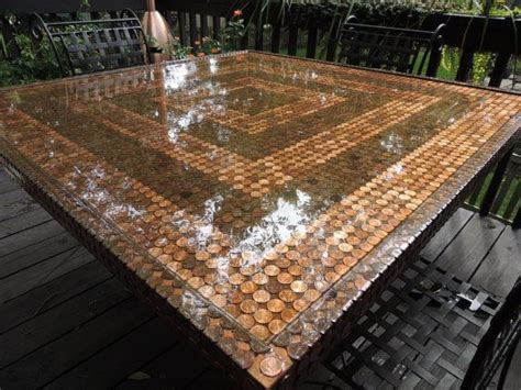 penny bar top diy penny table top top only by theleisuresuit on etsy 1200