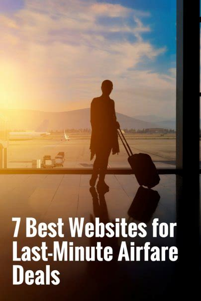 best websites for deals 7 best websites for last minute airfare deals