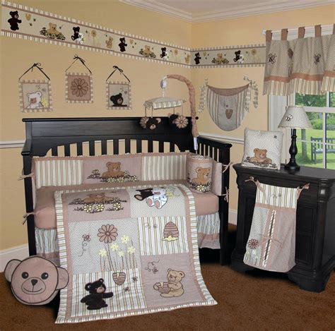bear crib bedding sisi bear and bee crib bedding collection baby bedding