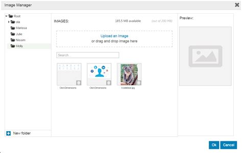 clickdimensions layout manager drag and drop editor add image clickdimensions support