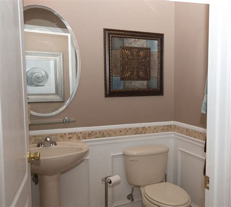 wainscoting ideas for bathrooms small bathroom pedestal traditional powder room with wainscoting powder room in