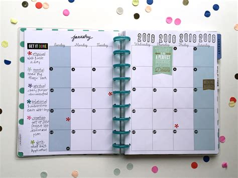 layout planner the happy planner january goals setup me my big ideas