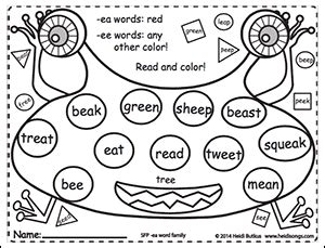 phonics vol 1 word family coloring worksheets