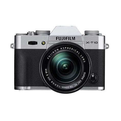 Kamera Fujifilm Mirrorless harga fujifilm x t10 kit16 50mm silver kamera mirrorless pricenia