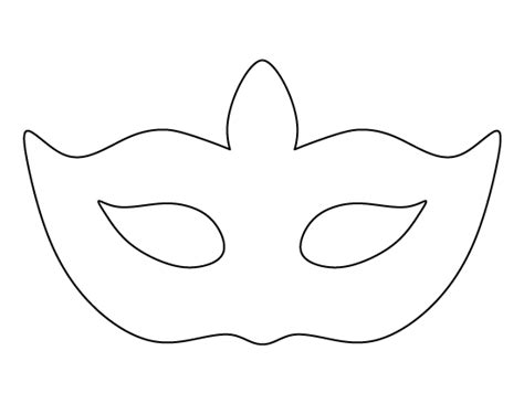 half mask printable template masquerade mask pattern use the printable outline for