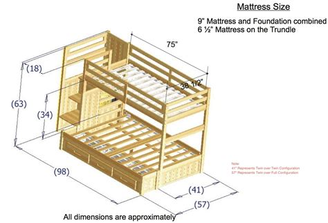 Dimensions Of A Bunk Bed Discovery World Furniture Merlot Staircase Bunk Bed Kfs Stores
