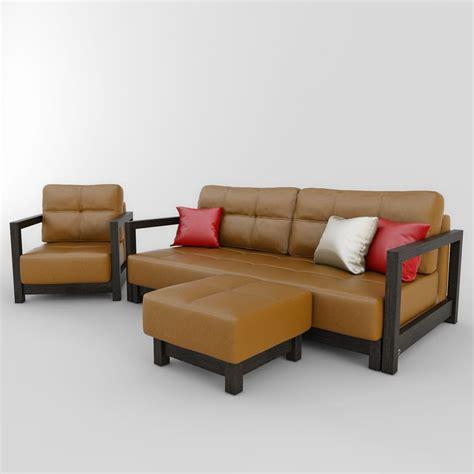 sofa pouffe sofa chair pouffe bifrost 3d model