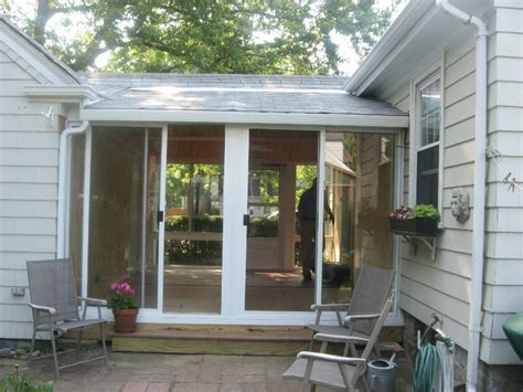 Awning Over Front Door Sunroom Before After Pictures L F Pease Company
