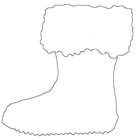 Free Coloring Pages Of Santa Boot Boot Coloring Page