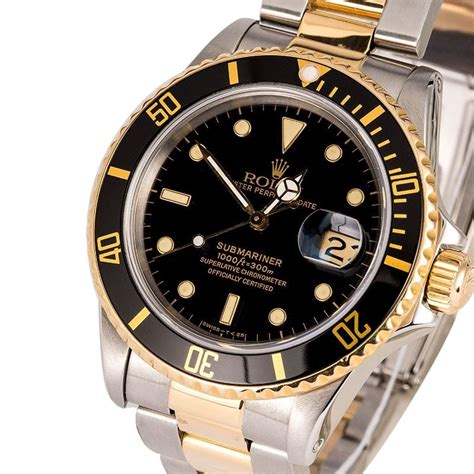 Rolex Oyster Submariner 2 s rolex submariner 16803 two tone oyster