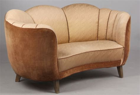 swedish deco curved sofa at 1stdibs