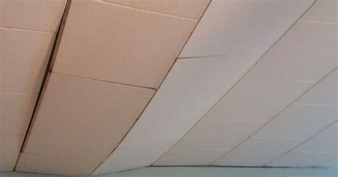 Painting 12x12 Ceiling Tiles by Is It Possible To Repair Our Sagging Ceiling Tiles And If