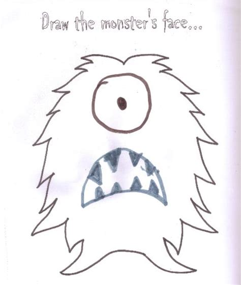 monster eyes coloring page best photos of monster face template printable monster