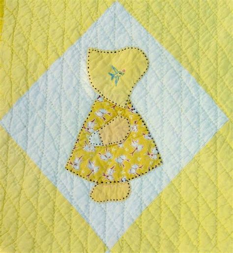 Patchwork Applique Patterns Free - busy bee no 16 yiayia s sunbonnet sue quilt a