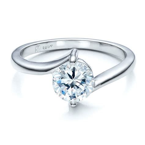 Contemporary Engagement Rings by Contemporary Solitaire Engagement Ring Engagement Rings