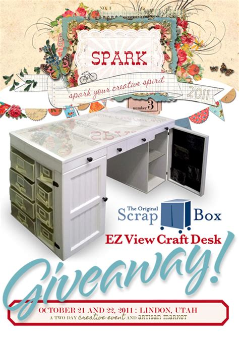 ez view craft desk scrapbox ez view craft desk giveaway at spark cathe holden s inspired barn