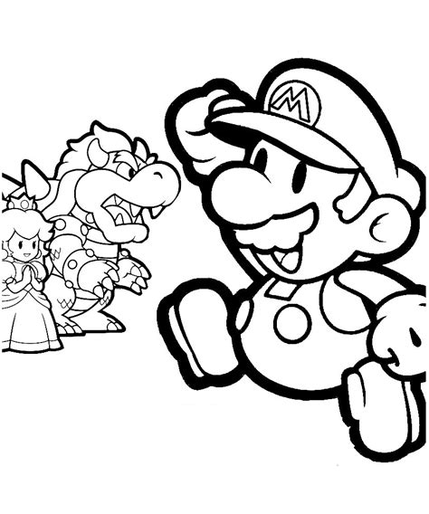 paper mario coloring pages printable coloring pages