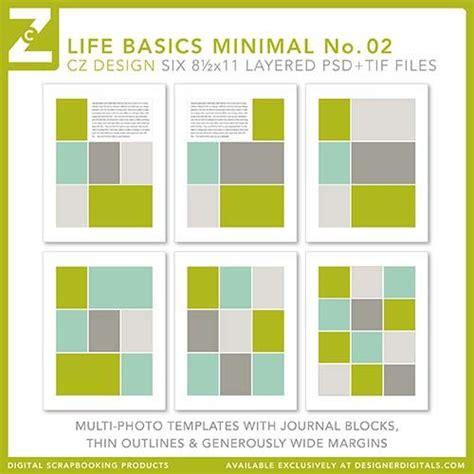 8 5x11 Life Basics Minimal No 02 Digital Scrapbooking Templates Project Life 2014 Ideas Digital Project Plan Template
