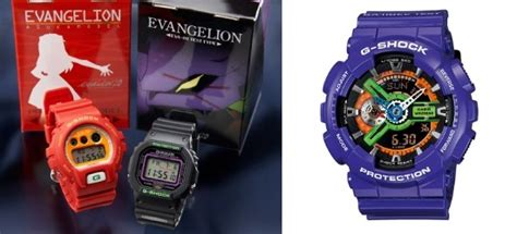 neon genesis evangelion g shock limited editions from