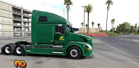 volvo vnl  abf freight system  skin american truck simulator mod ats mod