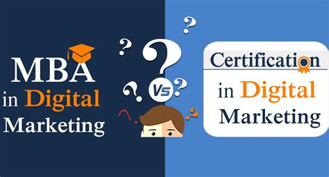digital marketing certification course in india digital mba in digital marketing vs digital marketing certification