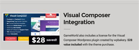 themeforest visual composer woocommerce game theme gameworld wordpress themeforest