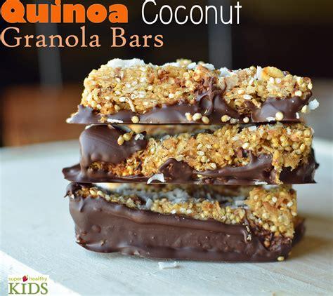 quinoa coconut granola bar recipe healthy ideas for
