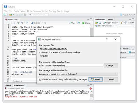 knitr tutorial latex create pdf reports using r r markdown latex and knitr
