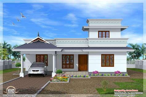kerala model one floor house home design plans