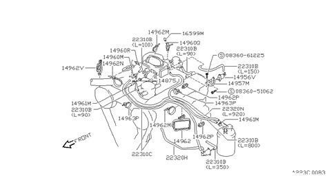 engine vacuum piping for 1993 nissan pathfinder