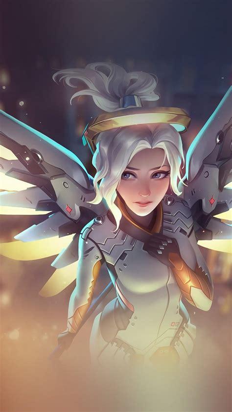wallpaper iphone overwatch mercy overwatch angel healer game art illustration iphone