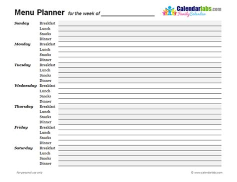 my indian version weekly school lunch planner weekly menu planner 02 free printable templates