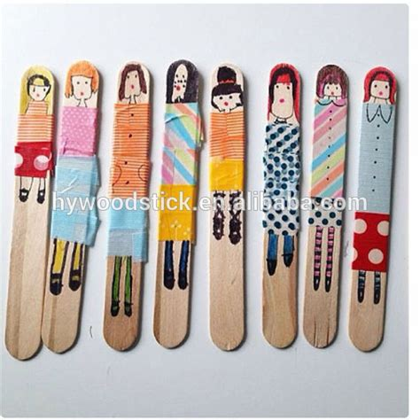Eco Friendly Diy Products wholesale wooden stick diy ice cream sticks art and craft