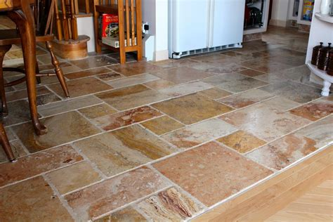 floor and tile decor kitchen floor tile designs for a warm kitchen to
