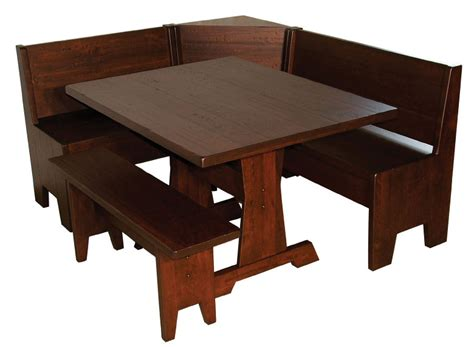 breakfast nook corner bench and table heritage breakfast nook set ohio hardword upholstered furniture