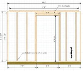 how to frame a door opening single shed doors