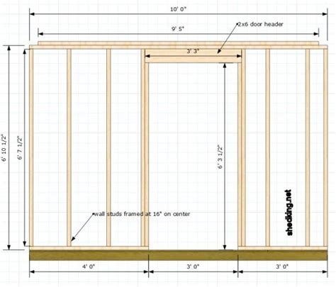 Single Shed Doors Framing Interior Door Opening