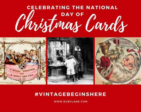 celebrating national christmas card day  ruby lane ruby lane blog