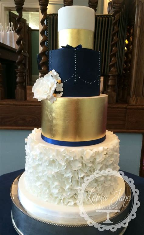Royal Blue And Gold Wedding Cake   www.imgkid.com   The Image Kid Has It!