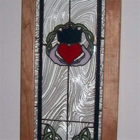 made celtic cabinet door inserts by terraza stained