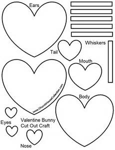 Kid Cut Out Template by S Day Bunny Rabbit Cutout Craft For